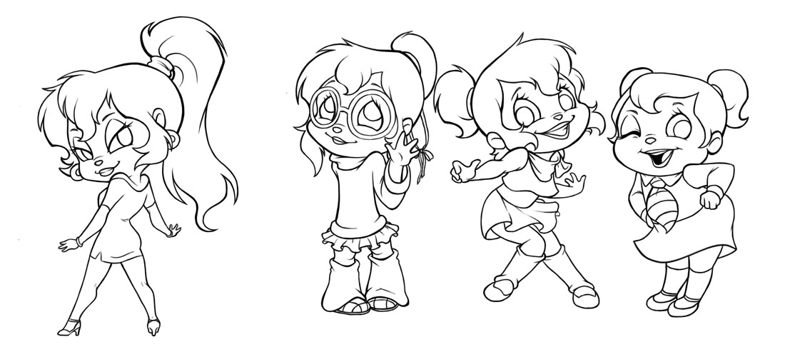 Free Printable Chipettes Coloring Pages For Kids | Cartoon ... | 500x1100