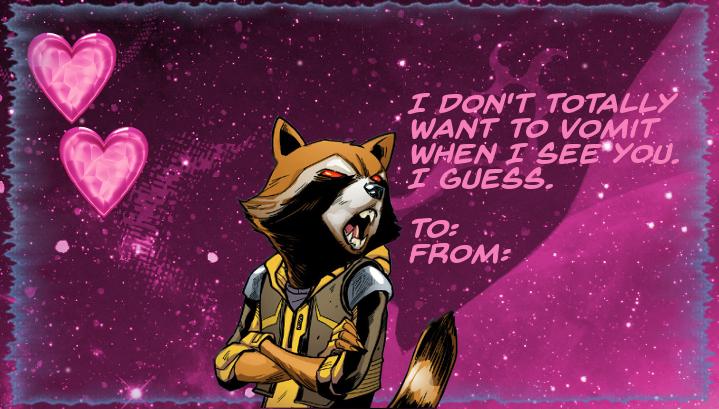 Rocket Raccoon Valentine card by HomicideCrabs on DeviantArt – Digital Valentine Card