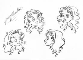 Young Christine Sketches