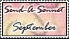 Send a Sonnet September Stamp by HugQueen