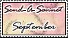 Send a Sonnet September Stamp by HugQueen