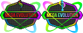 Mega Evolution Buttons in BW2 Style by 13ulbasaur