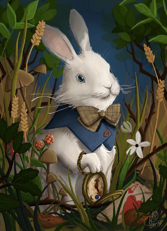 Rabbit in Wonderland by MeCardinal