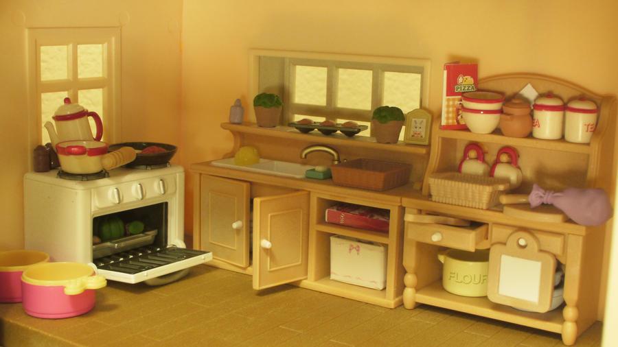 my Calico Critter kitchen. by savagedolls on DeviantArt