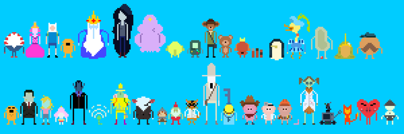 Adventure time 8bit cast 3 by supajackle on deviantart adventure time 8bit cast 3 by supajackle voltagebd Choice Image