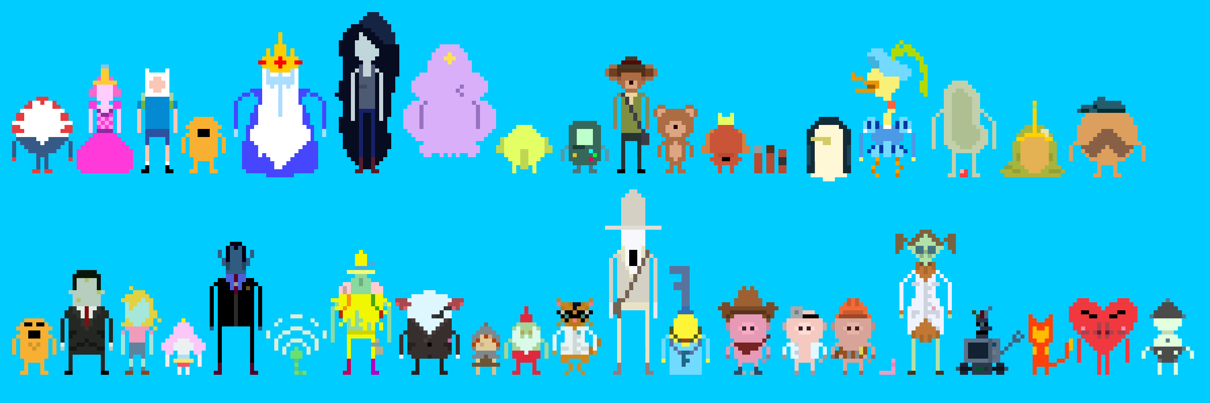 Adventure Time 8bit cast 3 by supajackle