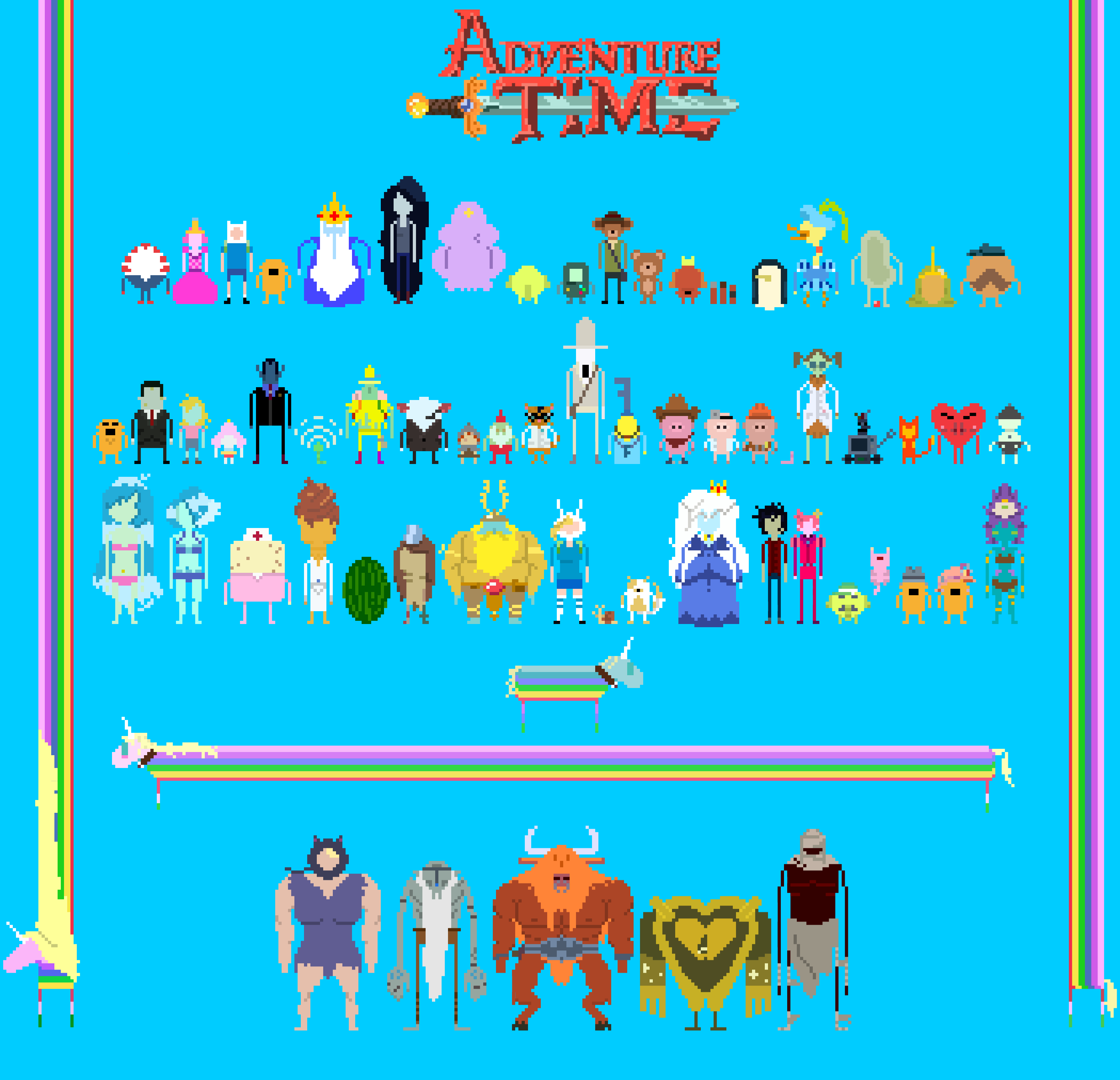Adventure Time 8bit by supajackle