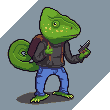 Reptile with a gun by supajackle