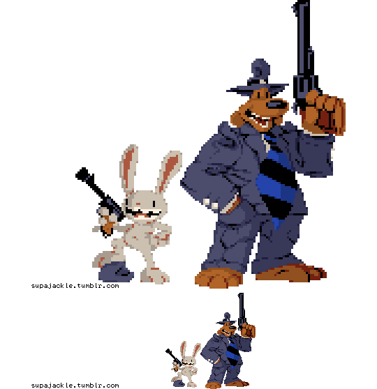 Sam and Max by supajackle