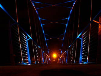 Blue Bridge and a Light by callmecarrol