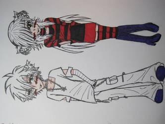 oc elli + boyfriend by mangajustice