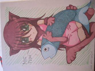 Neko+Fish by mangajustice