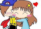 TenCents and Maddie: Chibi Hug by KurietuAigyou