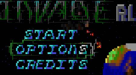 InvadeRL Game: Title Screen by Skullcoder