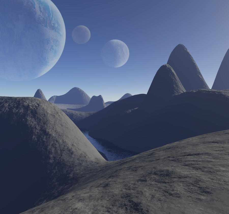 Moons Eye View by Coelophysis83