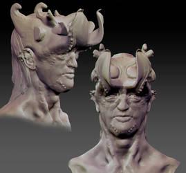 Horn Man by Elowly
