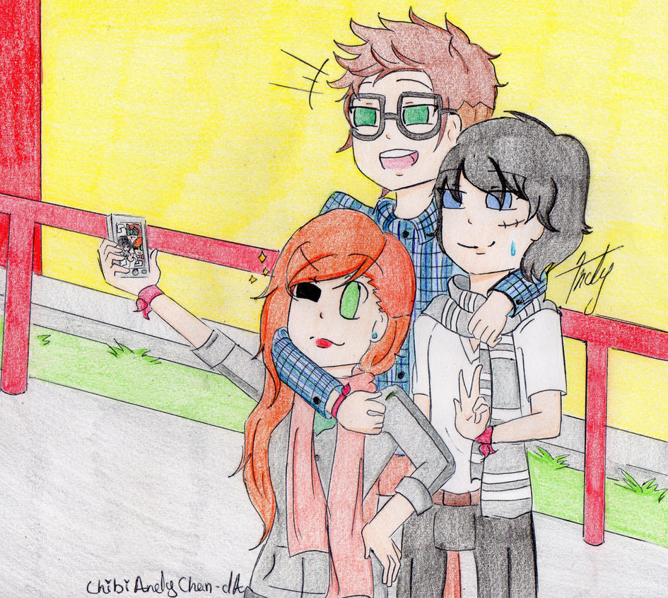 Liam, April and Mike by ChibiAndyChan