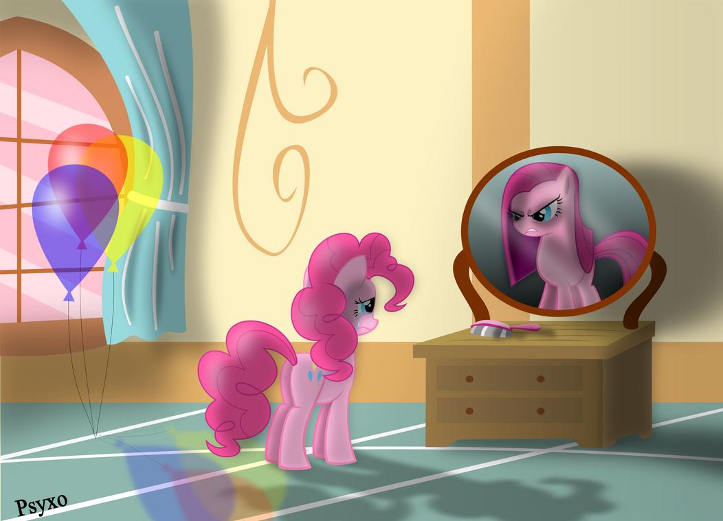 Pinkie Pie in Mirror by Psyxofthoros
