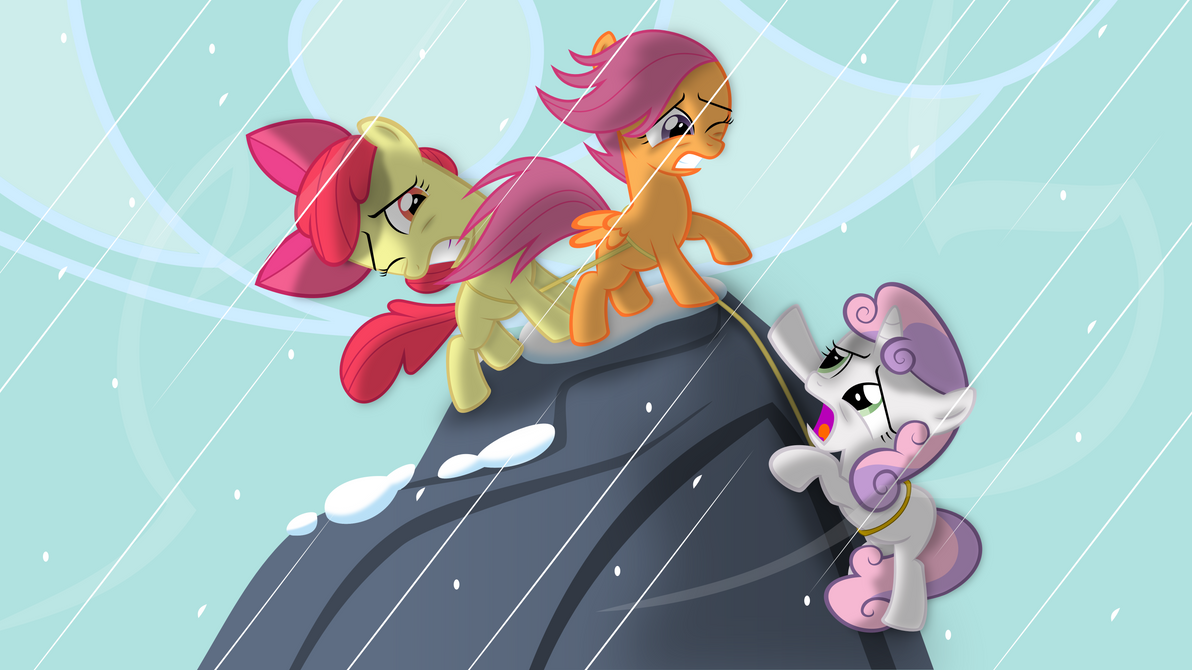 Cutie Mark Crusaders on Mountain by Psyxofthoros