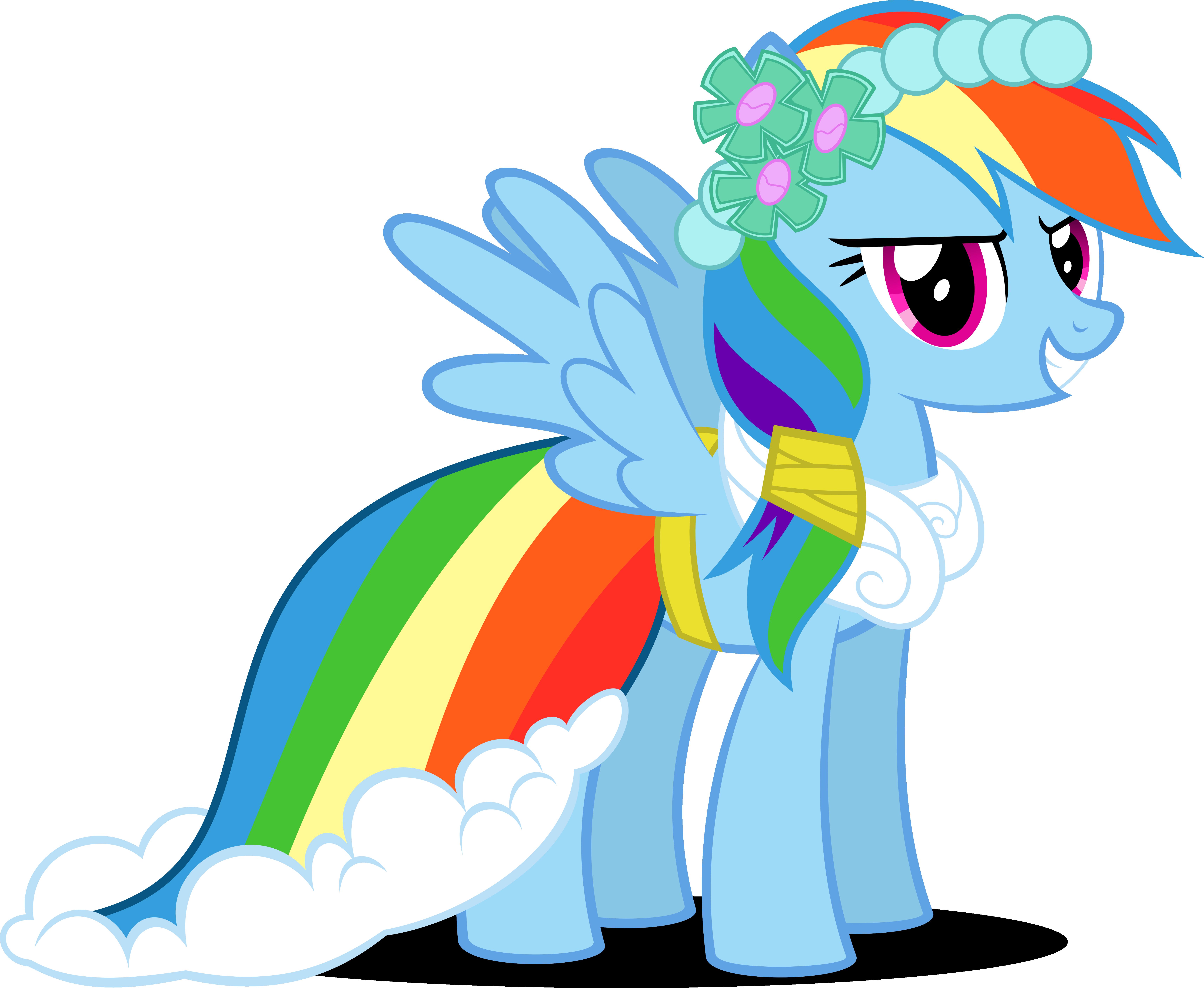 Rainbow Dash Canterlot Wedding by Psyxofthoros