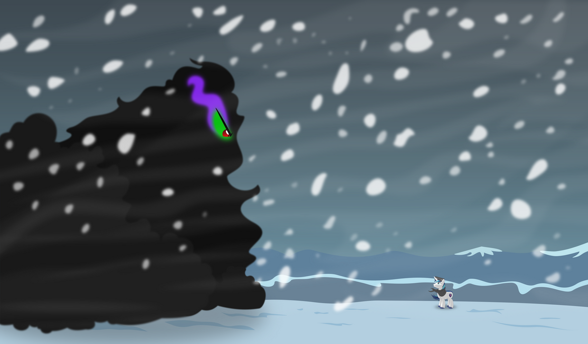 Shining Armor vs King Sombra by Psyxofthoros