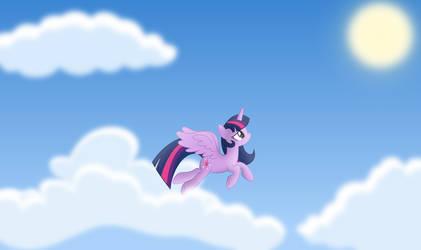 Princess Twilight Sparkle Flying by Psyxofthoros