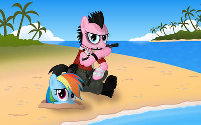 Pinkie Pie Cosplay: Vaas Montenegro, Far Cry 3