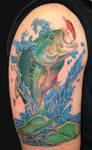 largemouth bass tattoo