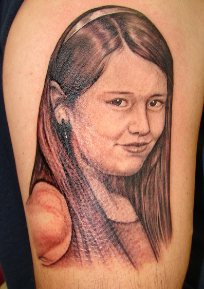 girl portrait tattoo by asussman
