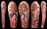 upper arm sleeve tattoo