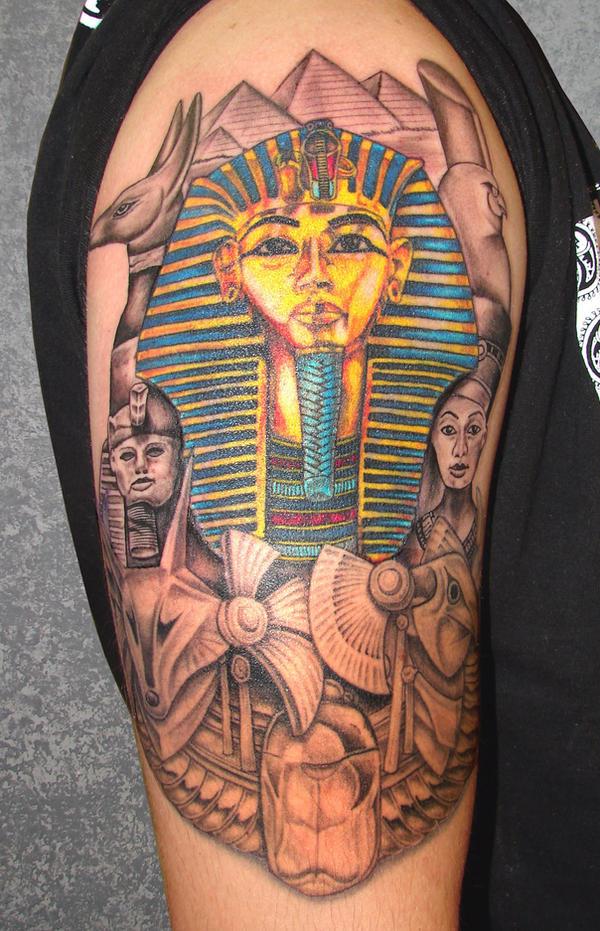 egyptian art tattoo final by asussman on deviantart