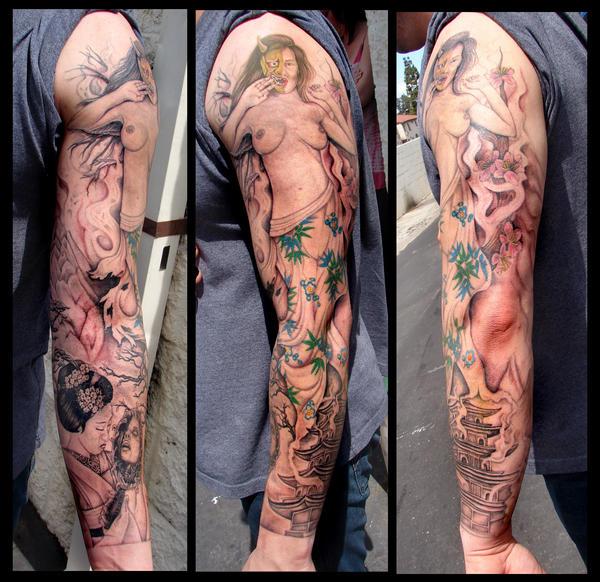 hanya demon final - sleeve tattoo