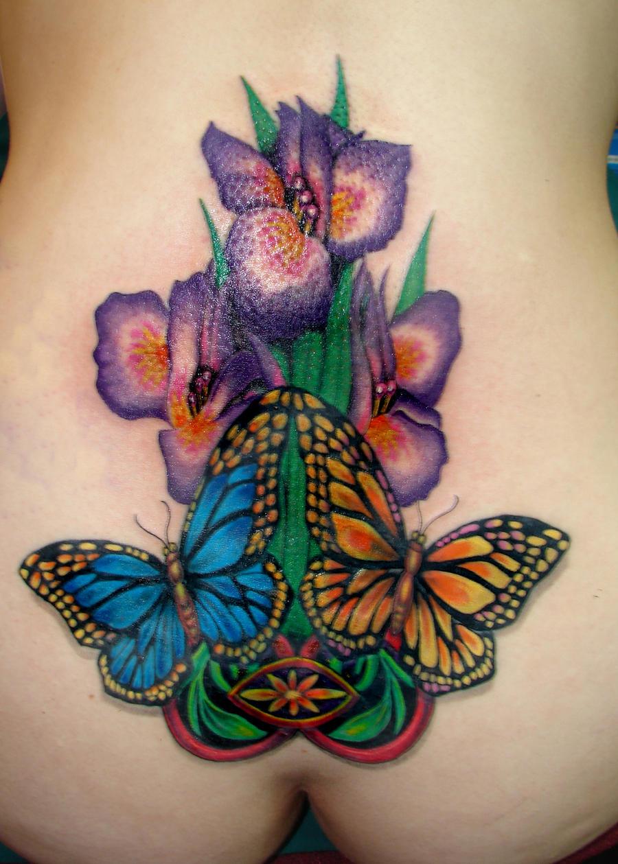 Iris Flower Tattoo Comousar