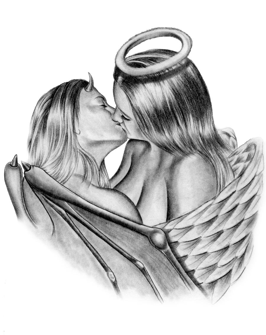 Angel vs Devil Tattoo Designs