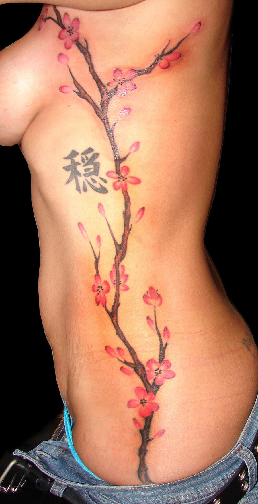 Another Cherry Blossom tattoo by asussman
