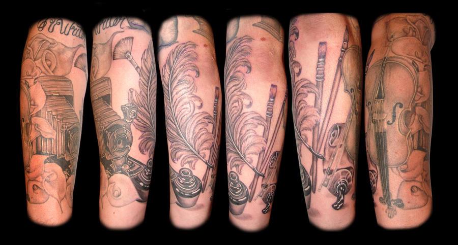 Jesse Arm finished - sleeve tattoo