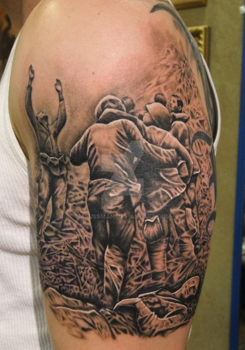Vietnam pow sleeve wip by asussman on deviantart for Vietnam tattoo ideas