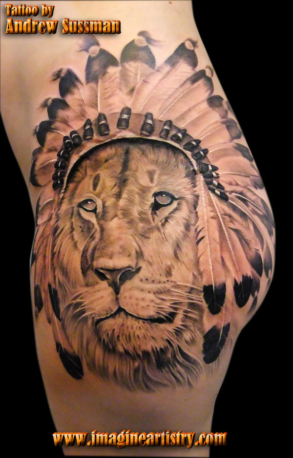Lion Headdress Tattoo