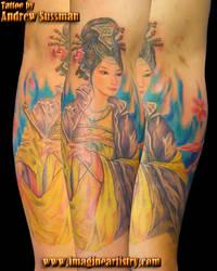 geisha and pipe by asussman
