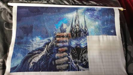 World of Warcraft: Lich King Cross Stitch W.I.P 8