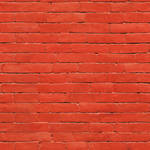 Painted red brick wall - seamless texture by Strapaca