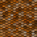 Gold and silver roof tiling - seamless texture by Strapaca