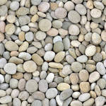 Colorful round river stones - seamless texture by Strapaca