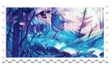 Galaxy forest stamp with border by Creamcloudie