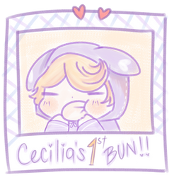 Cecilias first bun