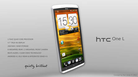 HTC One L Design Concept (Front) by DanielKeithJones