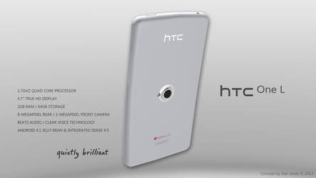 HTC One L Design Concept (Rear) by DanielKeithJones