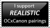 Realistic OCxCanon Stamp by bumblebot96