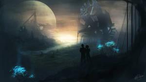 Hope (Sci fi landscape) by AshStraker
