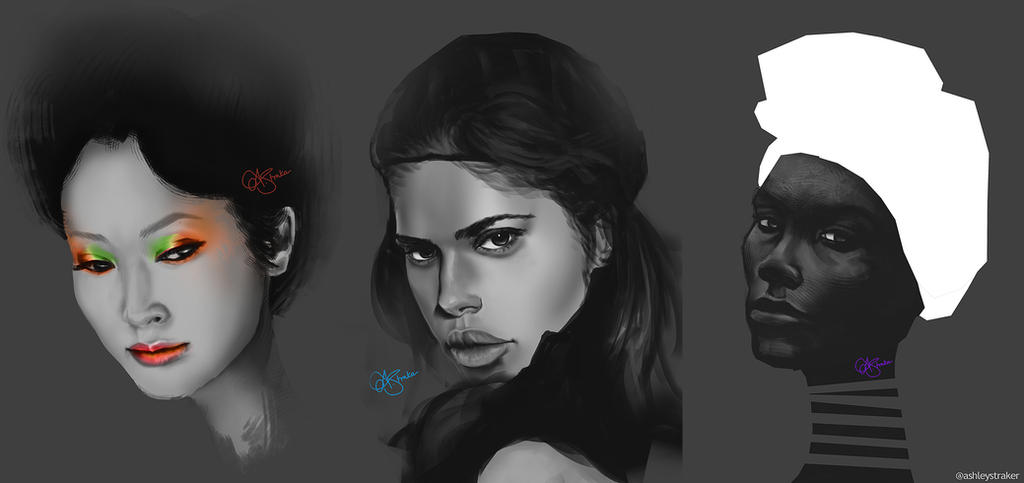 Study paintings by AshStraker